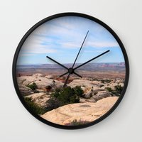 utah Wall Clocks featuring Utah by BACK to THE ROOTS