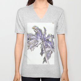 Palm abstract Unisex V-Neck