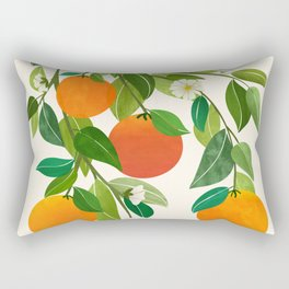 Oranges and Blossoms II / Tropical Fruit Series Rectangular Pillow