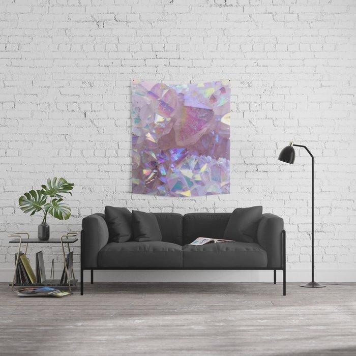 Pink Aura Crystals Wall Tapestry