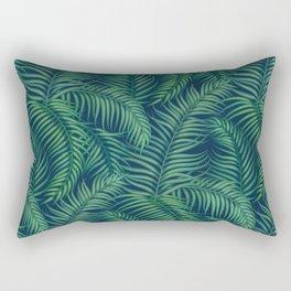 Night tropical palm leaves Rectangular Pillow