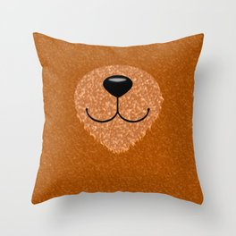 Teddy Bear Nose and Mouth Throw Pillow