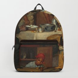 A Pastoral Visit, by Richard Norris Brooke, 1881 . An African American family Backpack