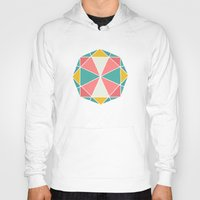 polygon Hoodies featuring Polygon by Juste Pixx Designs