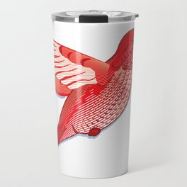 Red hummingbird colibri. Travel Mug