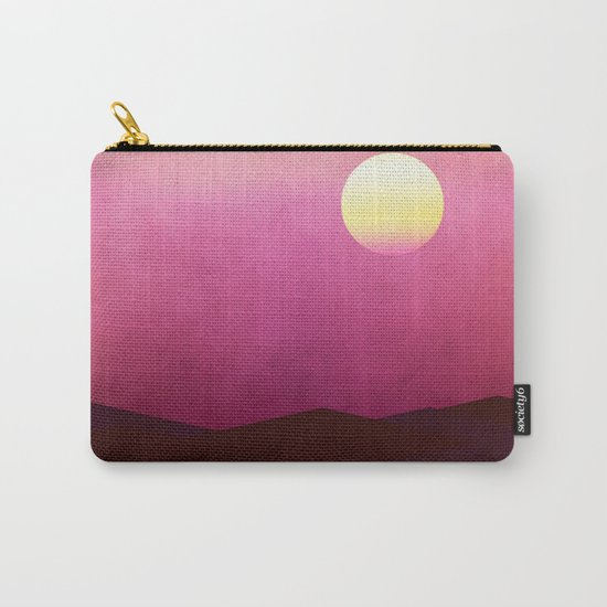 Setting Sun Over The Desert Carry-All Pouch