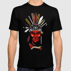 THE INDIAN SUMMER Mens Fitted Tee Black LARGE