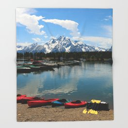 Beautiful Summerday At Colter Bay Throw Blanket