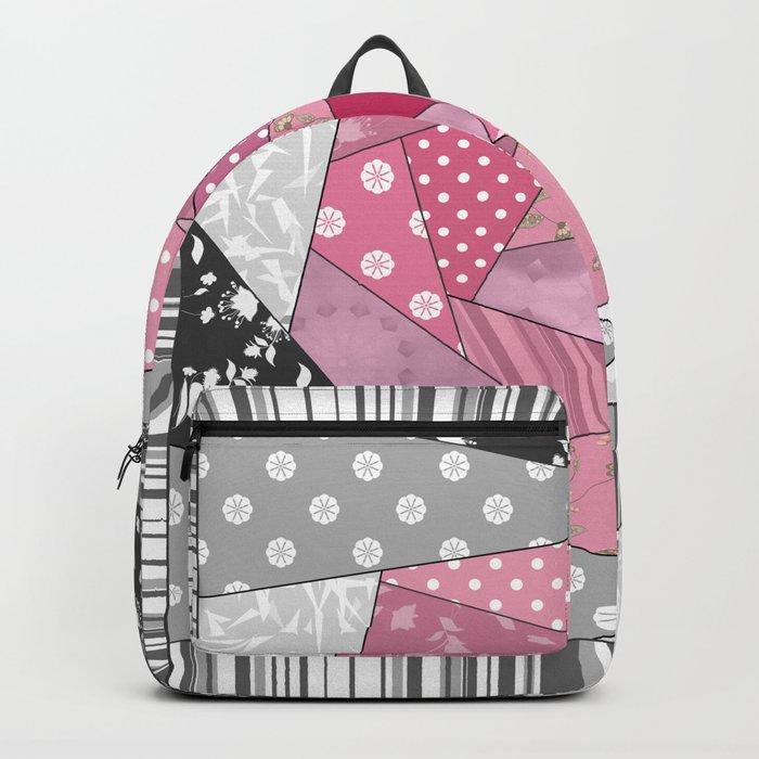 Needlework 1 . Patchwork. Roses. Backpack