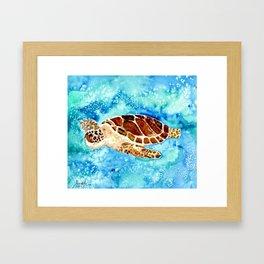 Sea Turtle Painting Framed Art Print
