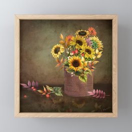 Pretty Even in a Rusty Bucket Framed Mini Art Print