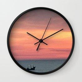 Sunset Treasure Wall Clock