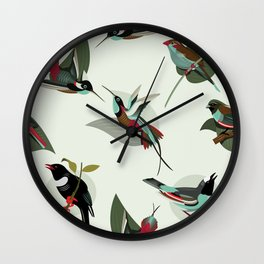 Paradise Birds Wall Clock