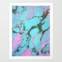 Blue Marmer Art Print