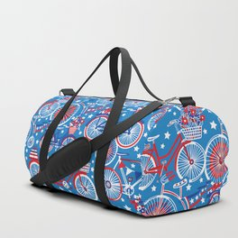 Cycling On The 4th Duffle Bag