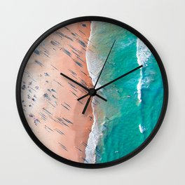 Half Sand Half Sea Wall Clock