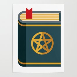 Magical Spell Book Poster