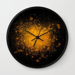 golden dust explosion Wall Clock