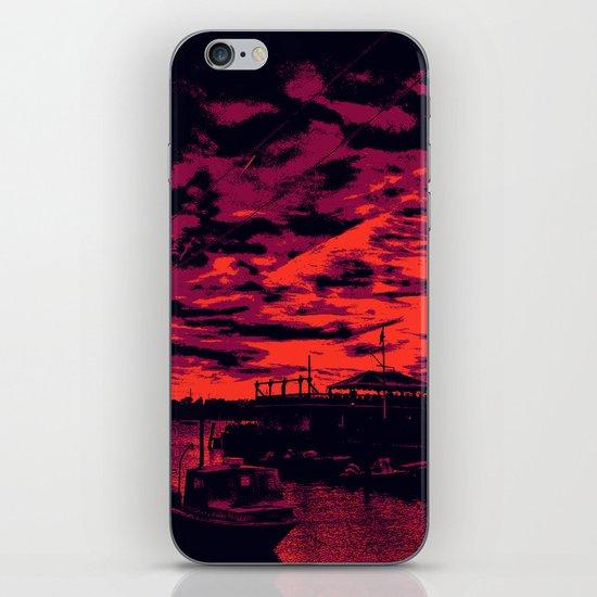 Sunset Over Bristol Harbor 2 iPhone & iPod Skin