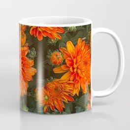 Orange Fall Mums Coffee Mug