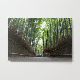 Arashiyama Bamboo Forest Kyoto Japan Metal Print