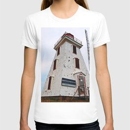 Cape Egmont Lighthouse and Radio Tower T-shirt