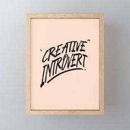 The Creative Introvert Framed Mini Art Print