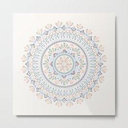 Jardin Mandala - Cornflower Metal Print