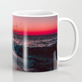 Pink ocean from sunset Coffee Mug
