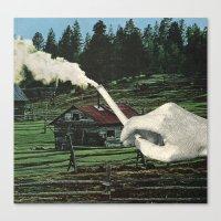 smoking Canvas Prints featuring Smoking by odart