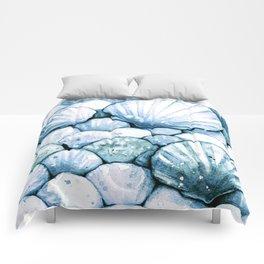 Sea Shells Teal Comforters