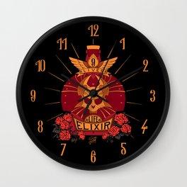 9-Lives Life Elixir (Plain colors) Wall Clock