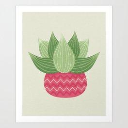 Watercolor Cactus Painting Art Print