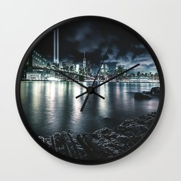 nyc skyline for 11 september Wall Clock