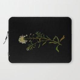 Iberis Amara Mary Delany Vintage Paper Flower Collage Floral Botanical Art Laptop Sleeve