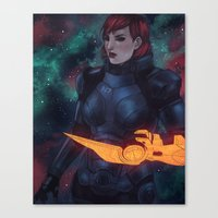 n7 Canvas Prints featuring N7 by Weissidian