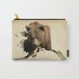 Alaskan Grizzly Map Carry-All Pouch