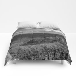 North_Rim Grand_Canyon, AZ - B&W II Comforters