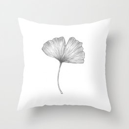 Ginkgo biloba I Throw Pillow