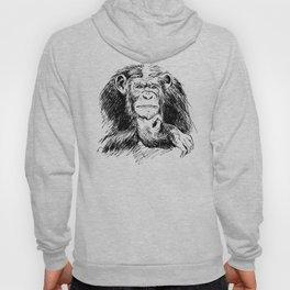 Drawing Chimpanzee Hoody