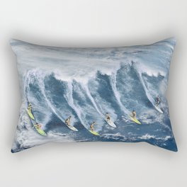 Surfing the Earth Rectangular Pillow