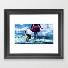 Race to the Sea Framed Art Print