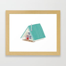 Little A Frame Cabin Framed Art Print