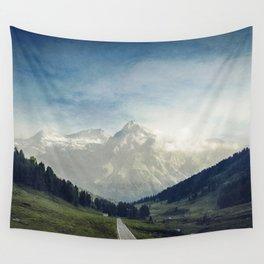 the Italian Alps - Sunlit Suretta Massif Wall Tapestry