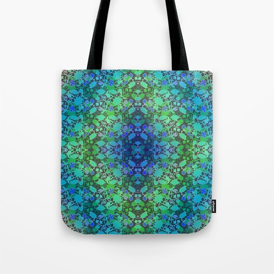 Lila's Flowers Repeat Blue Tote Bag