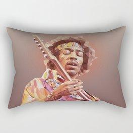 Jimi Hendrix Guitar God Rectangular Pillow