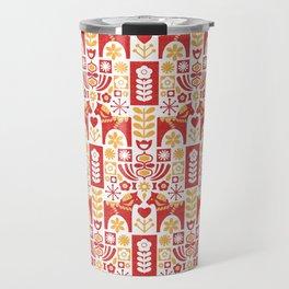 Swedish Folk Art_Mid-Century Modern Travel Mug