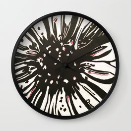 Graphic Flower Print Wall Clock