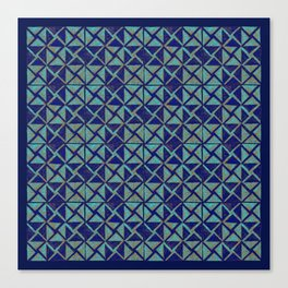 Patternsmith Triangles Blue Canvas Print