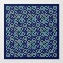 Patternsmith Triangles Blue Canvas Print